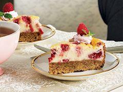 Ahududulu minyatür cheesecake