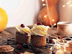 Bal kabağı kremalı muffin