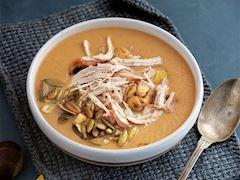 Balkabaklı kestane çorbası