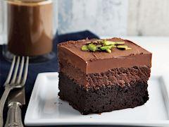 Bitter çikolatalı trüf brownie