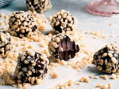 Çikolatalı ve fındıklı trüf