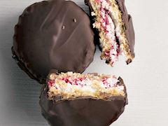 Çikolatalı&ahududulu hindistan cevizi bisküvisi