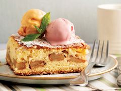 Elmalı yağsız kek