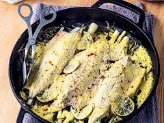 Fırında hardal soslu palamut