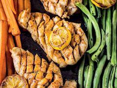 Fırında sebzeli tavuk göğüs eti