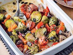 Fırında tahin soslu sebze