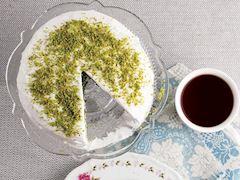 Ispanak püreli kremalı kek
