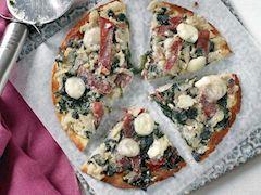 Ispanaklı ve enginarlı tortilla pizza