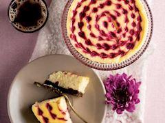 Kalpli ve ahududulu cheesecake