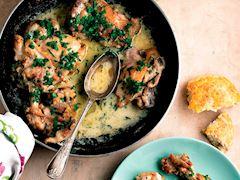 Kremalı ve maydanozlu tavuk