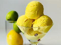 Limon soslu zerdeçallı dondurma