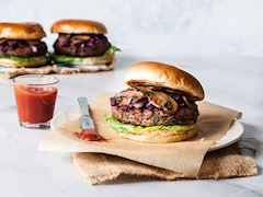 Mantarlı vegan burger