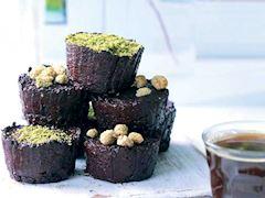 Pancarlı ve kakaolu unsuz muffin
