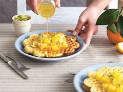 Portakal şuruplu waffle