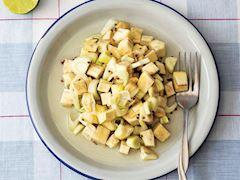 Rezene ve enginar turşusu salatası