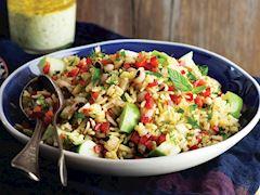Safranlı pirinç salatası