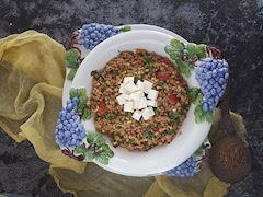 Soya soslu buğday salatası