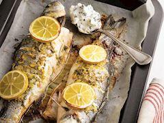 Tarhun soslu levrek balığı