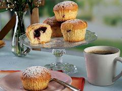 Vişne dolgulu limonlu muffin