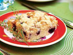 Vişneli crumble kek