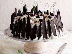 Vişneli karaorman pastası