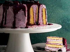 Yaban mersinli şerit pasta
