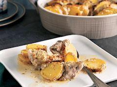 Yoğurt soslu ve patatesli tavuk külbastı