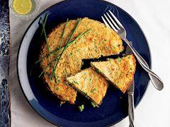Yulaflı ve bezelyeli omlet