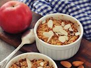 Fit elmalı crumble