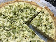 Patates tabanlı brokoli tart