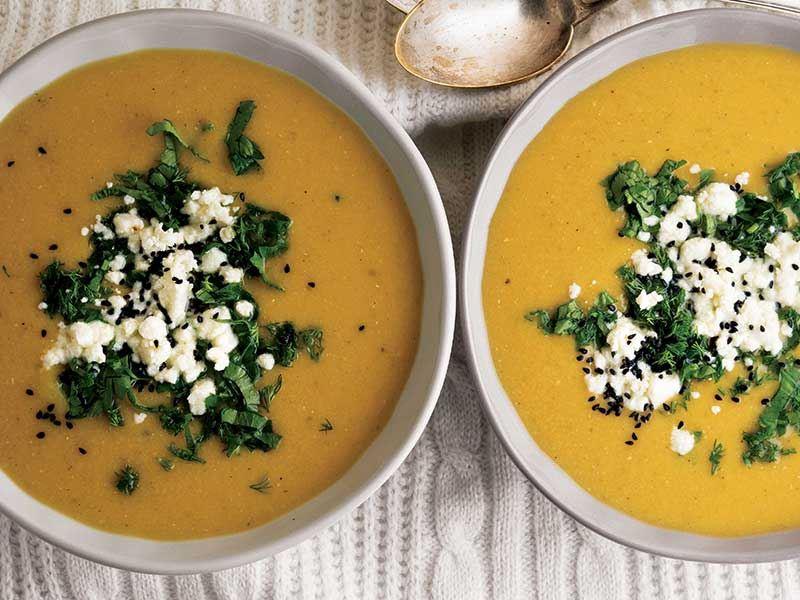 Balkabaklı sarı mercimek çorbası