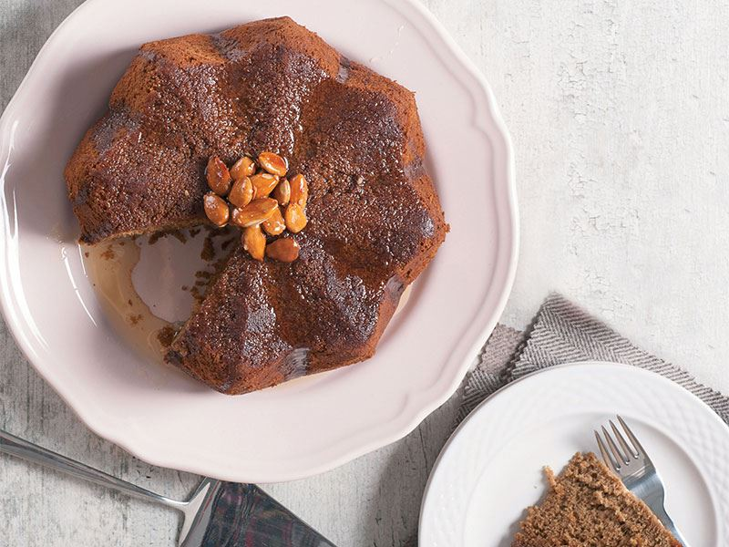 Ballı kahveli kek