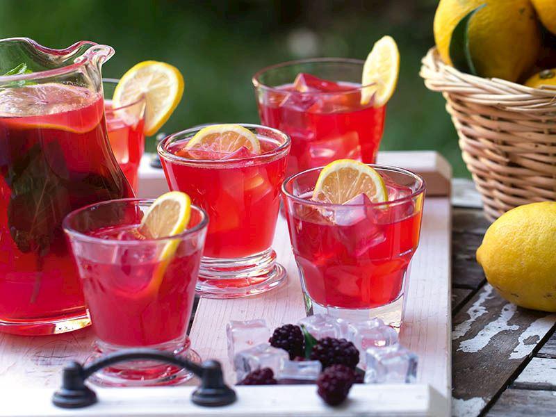 Böğürtlenli limonata