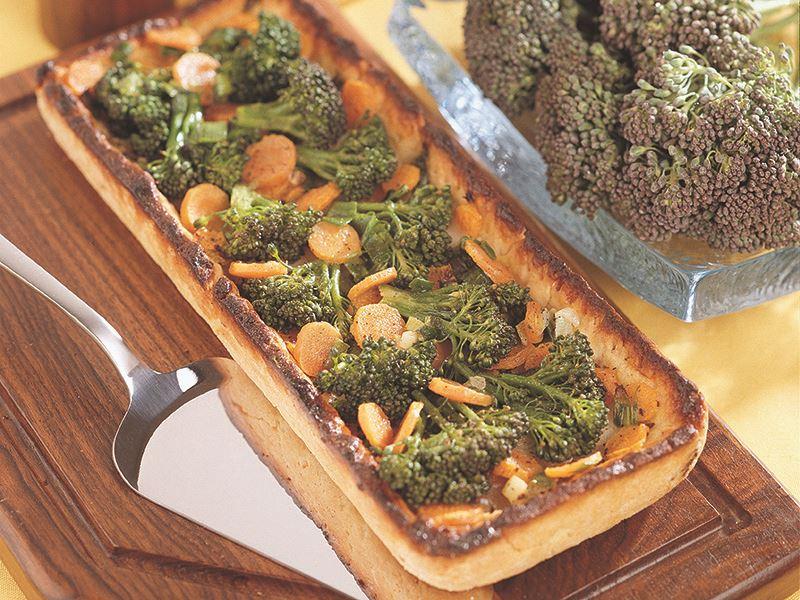 Brokolili Ve Peynirli Tart
