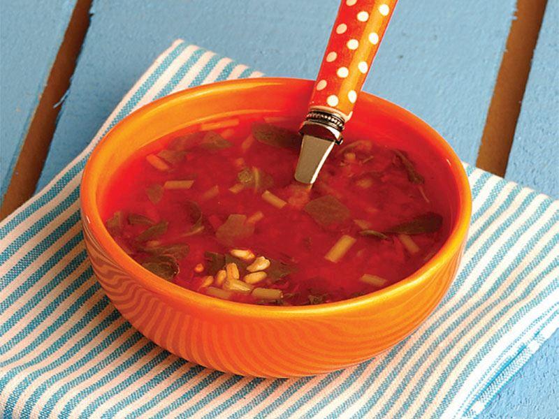 Buğdaylı semizotu çorbası