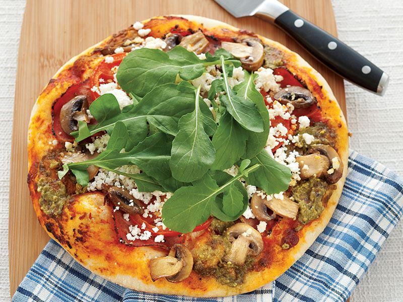 Çemensiz Pastırmalı Ve Rokalı Pizza