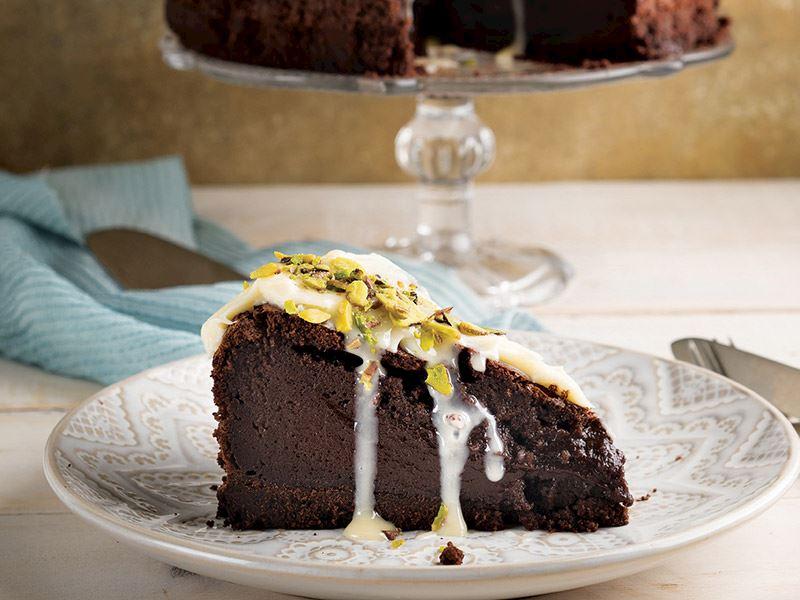 Çikolatalı antep fıstıklı cheesecake