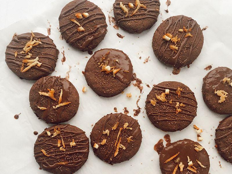Çikolatalı portakallı kurabiye