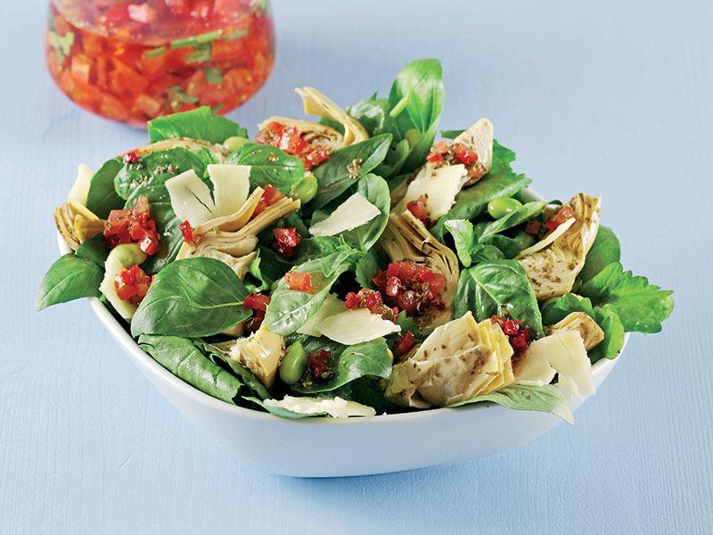 Domates Soslu Enginar Kalbi Salatası