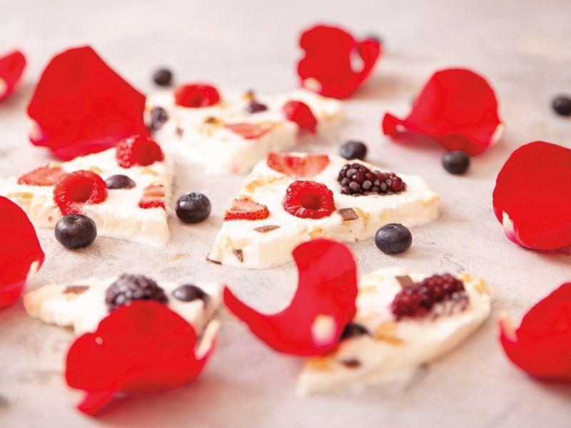 Dondurulmuş yoğurt parçaları