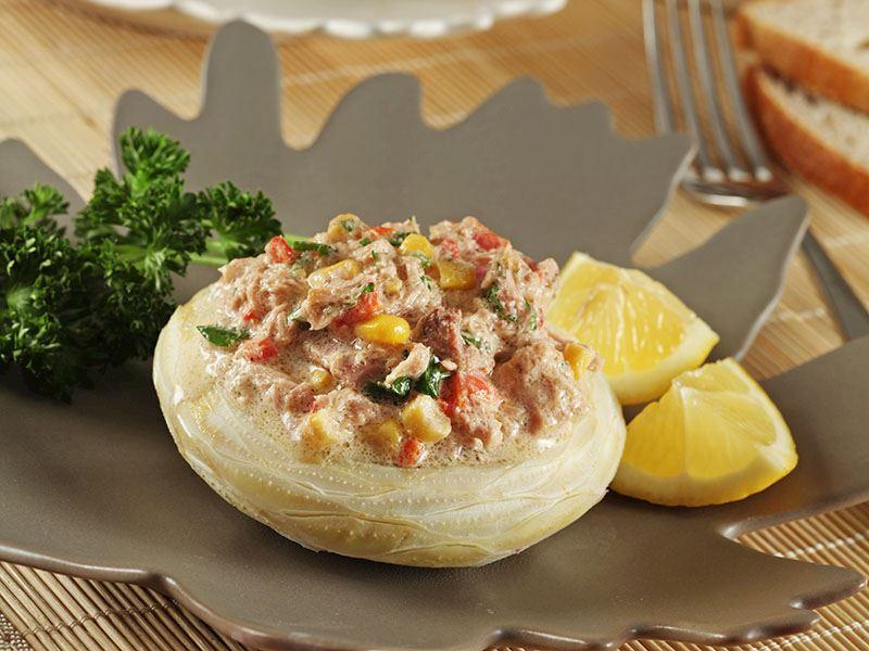 Enginar Kasesinde Ton Balıklı Salata