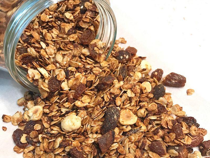 Ev yapımı çıtır granola
