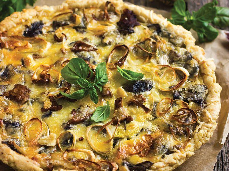 Fesleğenli pizza