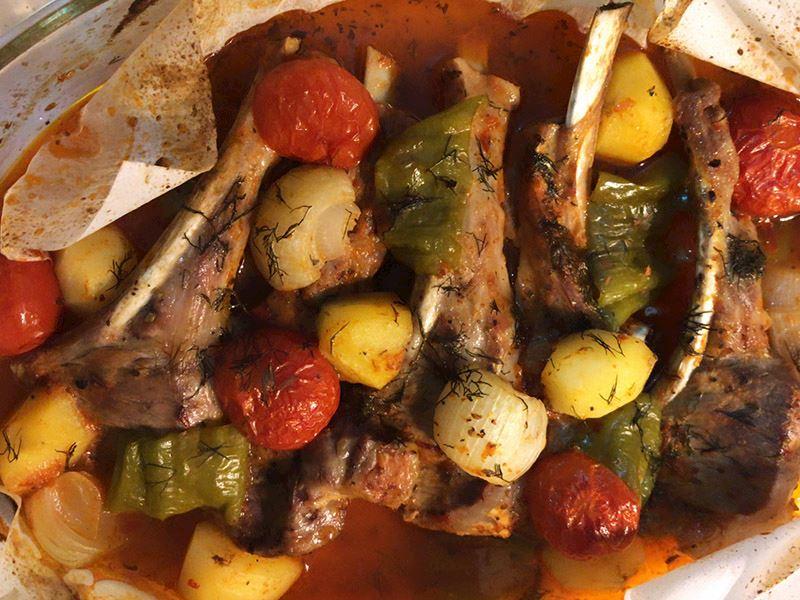 Fırında lokum kuzu pirzola