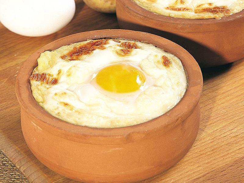 Fırında Püreli Yumurta