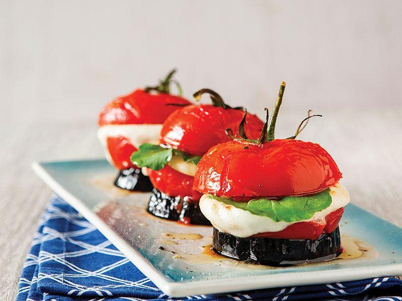 Fırınlanmış Caprese Salata