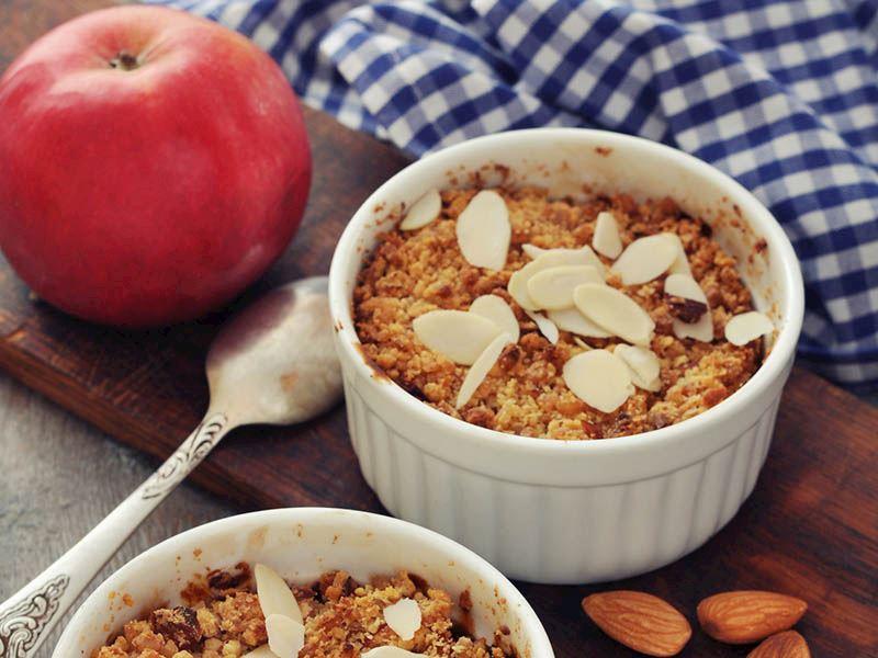 Fit elmalı crumble