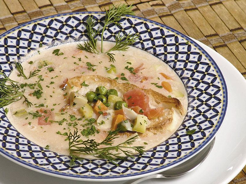 Floransa Usulü Sebze Çorbası