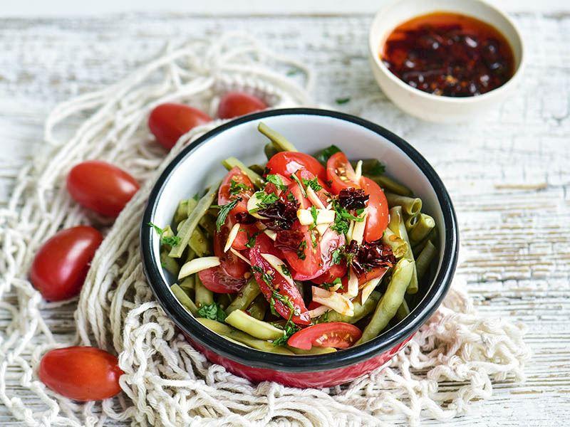 Haşlama sebzelerde domates