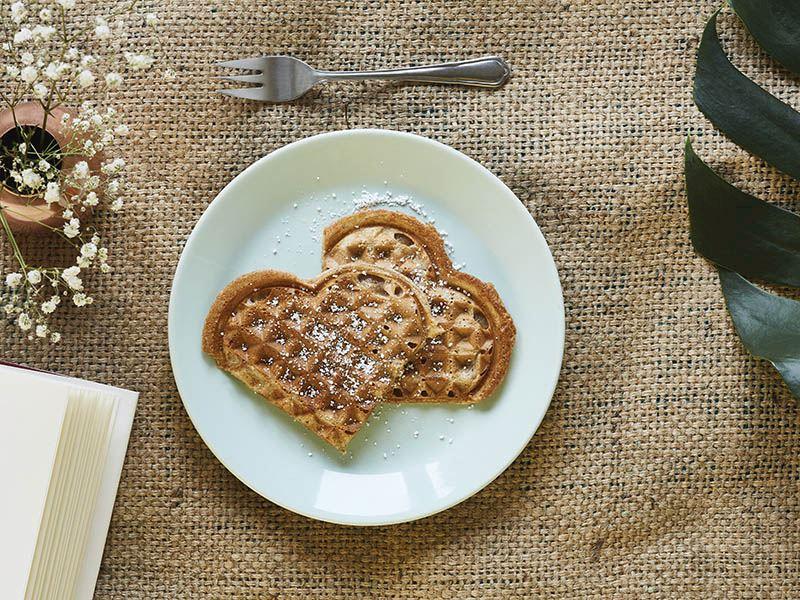 Hindistan cevizi sütlü waffle